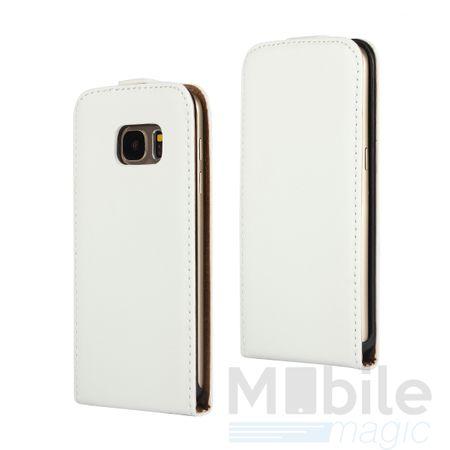 Samsung Galaxy A3 2017 Leder Flip Case Cover Etui Tasche Vertikal Hülle WEISS – Bild 1
