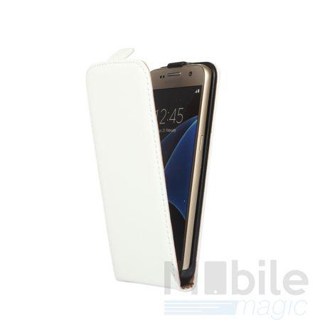 Samsung Galaxy A3 2017 Leder Flip Case Cover Etui Tasche Vertikal Hülle WEISS – Bild 2