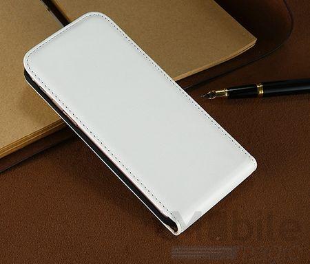 Samsung Galaxy A3 2017 Leder Flip Case Cover Etui Tasche Vertikal Hülle WEISS – Bild 3