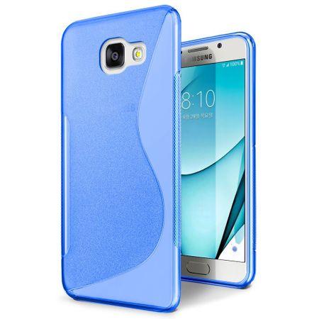 Samsung Galaxy A5 2017 S-Line TPU Gummi Silikon Case Welle Hülle BLAU – Bild 1