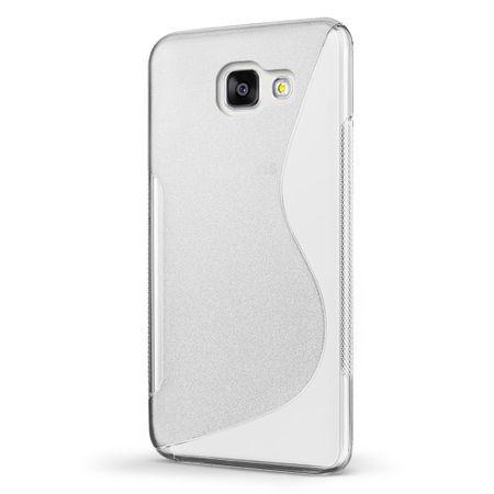 Samsung Galaxy A5 2017 S-Line TPU Gummi Silikon Case Welle Hülle TRANSPARENT – Bild 2
