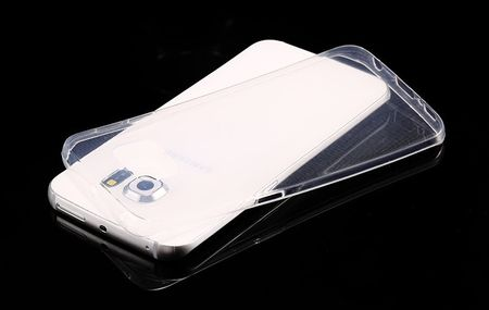 Samsung Galaxy S6 Edge Plus Gummi TPU Silikon Crystal Clear Case Cover Hülle Klar TRANSPARENT – Bild 4