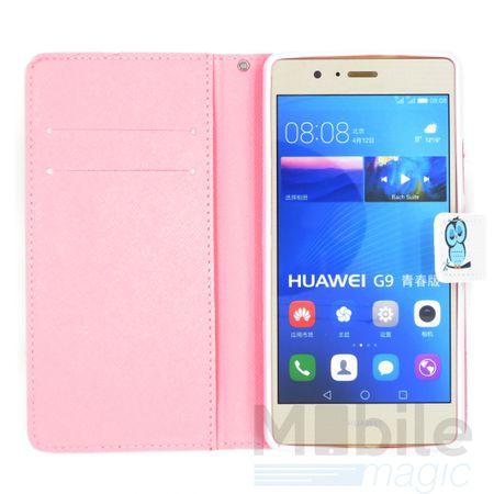 Samsung Galaxy A5 2017 Leder Etui Eule Tasche Hülle Flip Cover Case BLAU – Bild 3