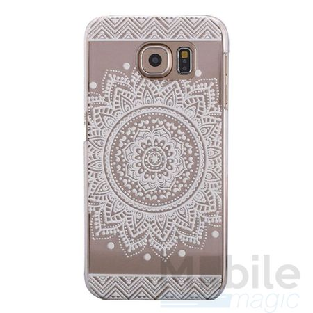 Samsung Galaxy A5 2017 Indian Mandala Gummi TPU Silikon Case Hülle TRANSPARENT WEISS – Bild 1