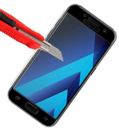 Samsung Galaxy A5 2017 RANDLOS Panzerglas Glas Schutzfolie Schutzglas Curved Tempered Glass SCHWARZ – Bild 2