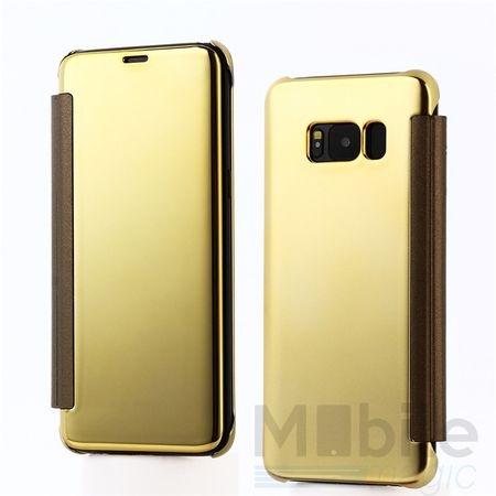Samsung Galaxy A5 2017 Clear Window View Case Cover Spiegel Mirror Hülle GOLD – Bild 1