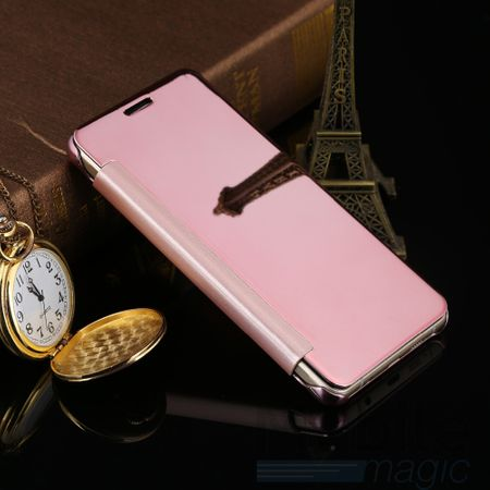 Samsung Galaxy A5 2017 Clear Window View Case Cover Spiegel Mirror Hülle ROSÉGOLD – Bild 3
