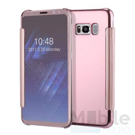Samsung Galaxy A5 2017 Clear Window View Case Cover Spiegel Mirror Hülle ROSÉGOLD – Bild 4