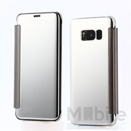 Samsung Galaxy A5 2017 Clear Window View Case Cover Spiegel Mirror Hülle SILBER – Bild 1