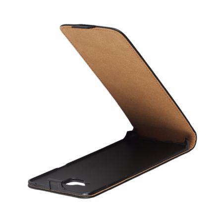 Samsung Galaxy A5 2017 Leder Flip Case Cover Etui Tasche Vertikal Hülle SCHWARZ – Bild 2