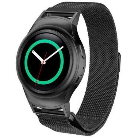 Samsung Gear S2 Sport ANKI Milanaise Edelstahl Armband SCHWARZ – Bild 5
