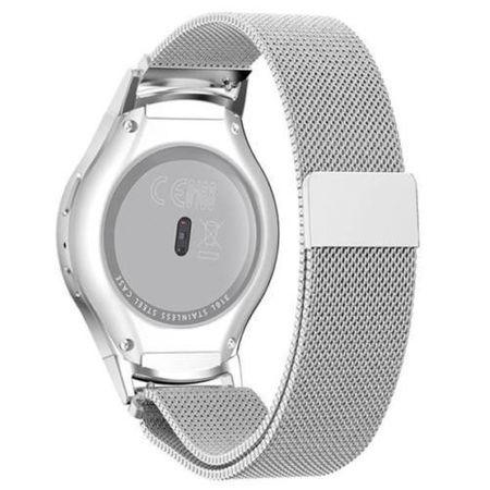 Samsung Gear S2 Sport ANKI Milanaise Edelstahl Armband SILBER – Bild 1