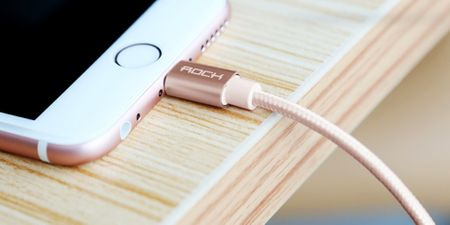 ROCK Lightning USB Ladekabel Apple MFI zertifiziert 1,8m ROSEGOLD – Bild 3