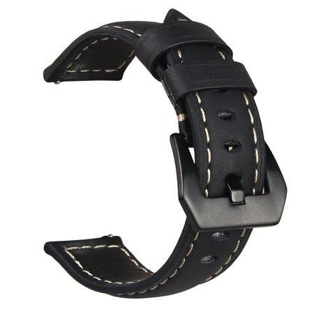 Samsung Gear S3 Classic / Frontier ANKI Leder Ersatz Band Armband SCHWARZ – Bild 3