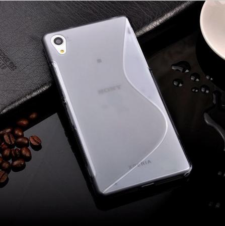 Sony Xperia Z5 S-Line Gummi TPU Silikon Clear Case Cover Hülle Klar TRANSPARENT – Bild 2