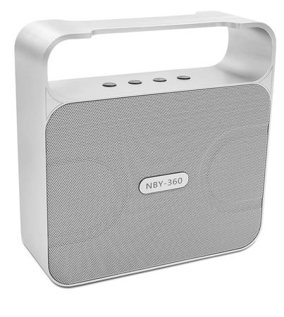NBY Bluetooth Lautsprecher Bass Speaker Wireless Boxen SILBER – Bild 1
