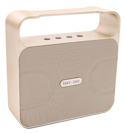 NBY Bluetooth Lautsprecher Bass Speaker Wireless Boxen GOLD