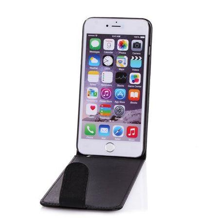 iPhone 6S / 6 Leder Case Flip Etui Tasche Hülle SCHWARZ – Bild 3