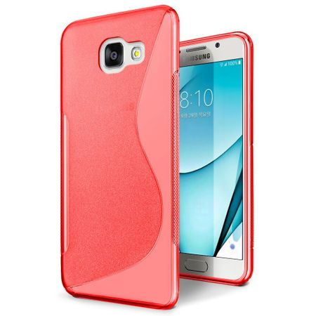 Samsung Galaxy A3 2017 S-Line TPU Gummi Silikon Case Welle Hülle ROT – Bild 1