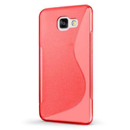 Samsung Galaxy A5 2017 S-Line TPU Gummi Silikon Case Welle Hülle ROT – Bild 2