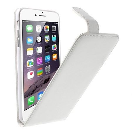 iPhone 6S / 6 Leder Case Flip Etui Tasche Hülle WEISS