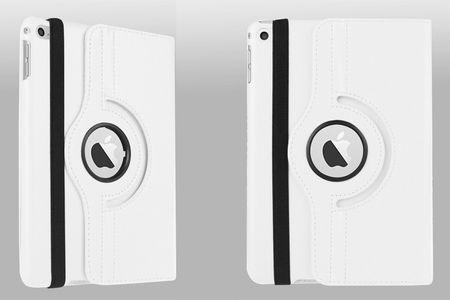 "iPad Pro 12.9"" 360° Flip Etui Tasche Cover Leder Case WEISS – Bild 3"