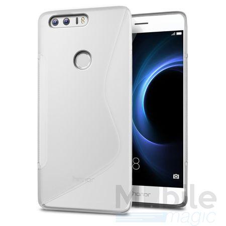 Huawei P10 S-Line TPU Gummi Silikon Case Welle Hülle TRANSPARENT – Bild 1