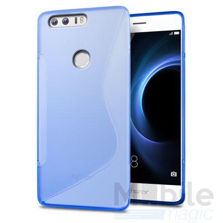 Huawei P10 S-Line TPU Gummi Silikon Case Welle Hülle BLAU – Bild 1