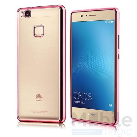 Huawei P10 Metallic Gummi TPU Silikon Case Hülle Schutzhülle Cover Klar ROSÉGOLD – Bild 2