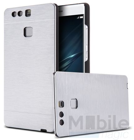 Huawei P10 Aluminium Metall Brushed Hard Case Cover Hülle SILBER