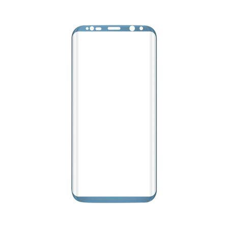 Samsung Galaxy S8 RANDLOS Panzerglas Glas Schutzfolie Schutzglas Curved Tempered Glass BLAU – Bild 2