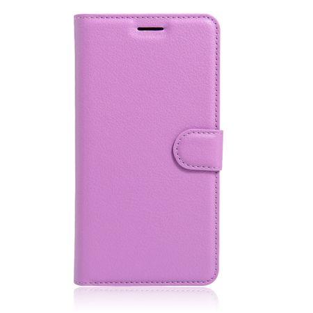 Samsung Galaxy S8 Flip Etui Leder Case Tasche Hülle mit Kartenfach VIOLETT – Bild 3