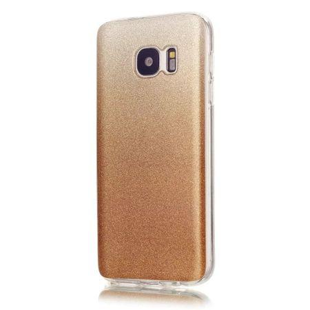 Samsung Galaxy S8 Glitzer Hülle Gummi TPU Klar Silikon Crystal Clear Case GOLD – Bild 1