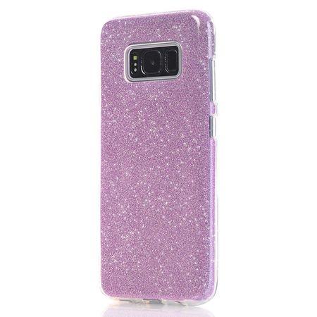 Samsung Galaxy S8 Glitzer Hülle Gummi TPU Klar Silikon Crystal Clear Case ROSÉGOLD Pink Rosa – Bild 4
