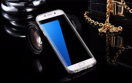 Samsung Galaxy S8 Glitzer Hülle Gummi TPU Klar Silikon Crystal Clear Case SILBER – Bild 3