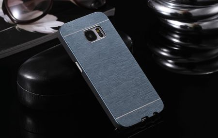 Samsung Galaxy S8 Aluminium Metall Brushed Hard Case Cover Hülle BLAU – Bild 2