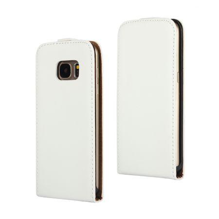 Samsung Galaxy S8 Plus Leder Flip Case Cover Etui Tasche Vertikal Hülle WEISS – Bild 1
