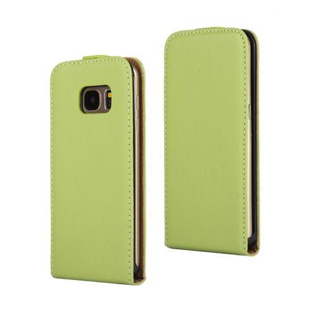 Samsung Galaxy S8 Plus Leder Flip Case Cover Etui Tasche Vertikal Hülle GRÜN – Bild 1