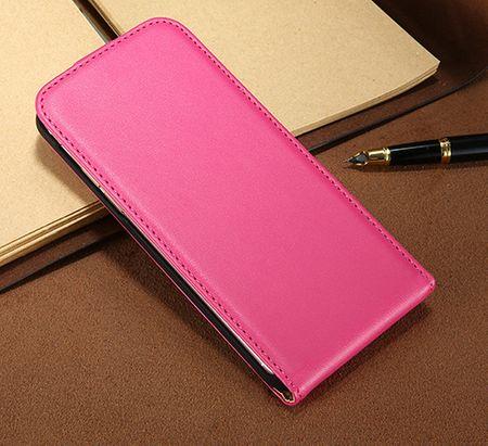 Samsung Galaxy S8 Plus Leder Flip Case Cover Etui Tasche Vertikal Hülle PINK – Bild 3