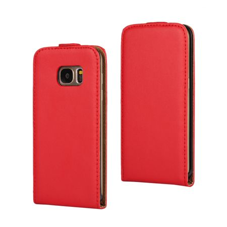 Samsung Galaxy S8 Plus Leder Flip Case Cover Etui Tasche Vertikal Hülle ROT – Bild 1