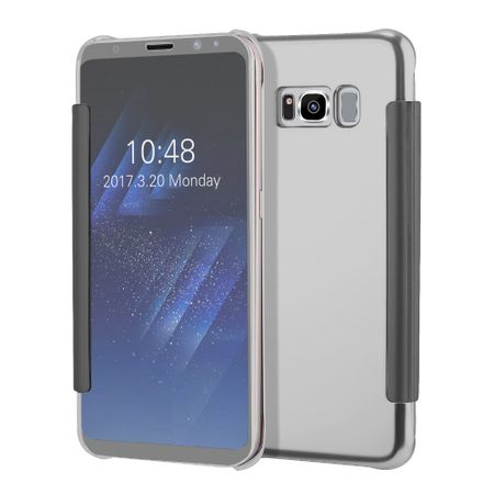 Samsung Galaxy S8 Plus Clear Window View Case Cover Spiegel Mirror Hülle SILBER – Bild 4