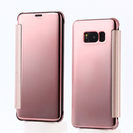 Samsung Galaxy S8 Plus Clear Window View Case Cover Spiegel Mirror Hülle ROSÉGOLD Pink – Bild 1