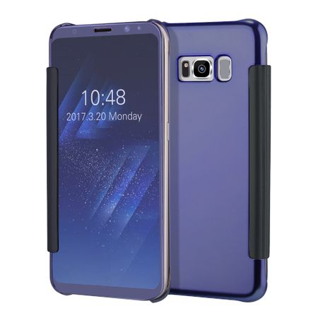 Samsung Galaxy S8 Plus Clear Window View Case Cover Spiegel Mirror Hülle BLAU – Bild 1