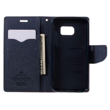 Samsung Galaxy S8 Plus Mercury Goospery Leder Etui Case mit Kartenfach Flip Tasche Hülle ROT – Bild 4