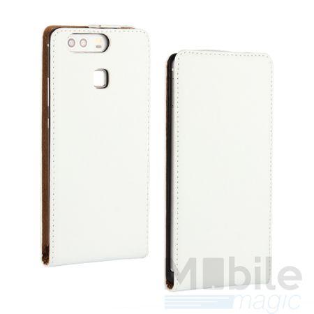Huawei P10 Plus Leder Flip Case Cover Etui Tasche Vertikal Hülle WEISS – Bild 1