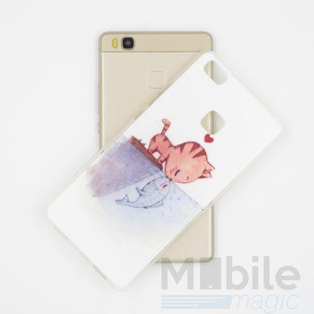 Huawei P10 Plus Katze Case Fisch Gummi Hülle TPU Silikon Kiss Cover – Bild 2