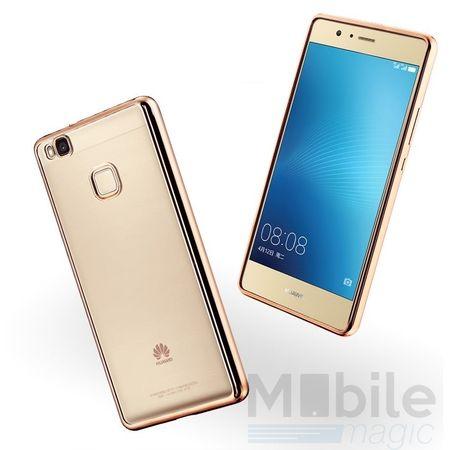 Huawei P10 Plus Metallic Gummi TPU Silikon Case Hülle Schutzhülle Cover Klar GOLD – Bild 1