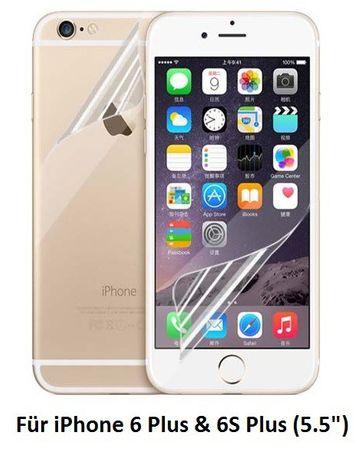 iPhone 6S Plus / 6 Plus ULTRA Clear Schutzfolie (1x Vorderseite , 1x Rückseite ) Klar Folie