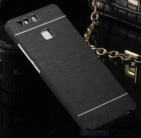 Huawei P10 Plus Aluminium Metall Brushed Hard Case Cover Hülle SCHWARZ – Bild 2