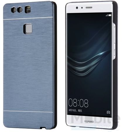 Huawei P10 Plus Aluminium Metall Brushed Hard Case Cover Hülle BLAU – Bild 2